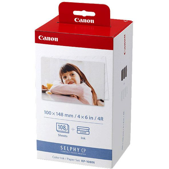 Canon KP-108IN Original pack Tinta Color/ Papel Set (6 x 4) - 108 Sheets 3115B001