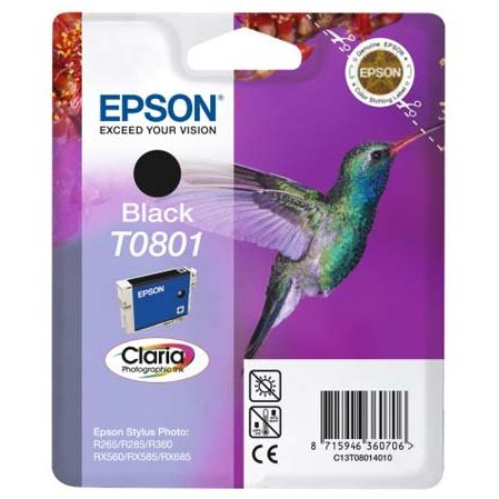 Epson T0801 Negro Original STYLUS PHOTO R265 R360 RX560 C13T080140