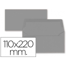 PACK 9 Sobres Americanos gris 110x220 mm 80 54501