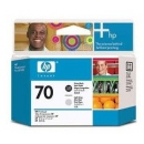 CABEZAL - HP 70 Negro Photo y Gris claro Original C9407A
