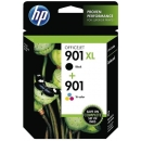 PACK 2 Cartuchos HP 901XL Negro + Tricolor Original CC654AE + CC656AE SD519AE