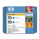 PACK 2 - HP 70 Cian Original (Twin Pack) CB343A