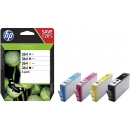 PACK 4 Colores HP 364 Negro + Cian + Magenta + Amarillo Original N9J73AE SD534EE
