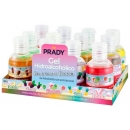PACK 12 botellas de Gel Hidroalcoholico AROMAS 50ml - 6 Aromas a Golosinas - Alcohol 70% (Prady)