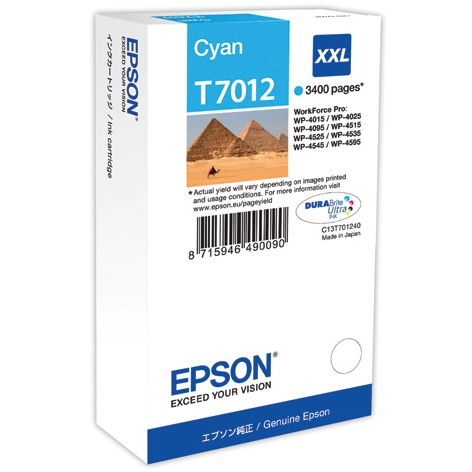 Epson T7012 XXL Original Cyan WORKFORCE PRO WP4000 WP4500 WP4525 C13T70124010