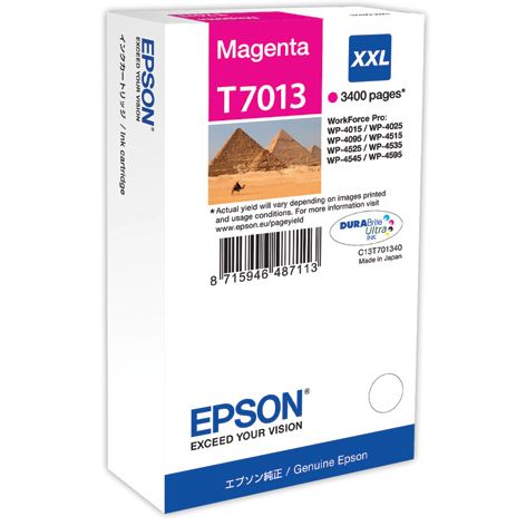 Epson T7013 XXL Original Magenta WORKFORCE PRO WP4000 WP4500 WP4525 C13T70134010
