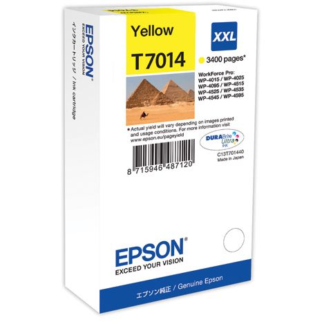 Epson T7014 XXL Original Amarillo WORKFORCE PRO WP4000 WP4500 WP4525 C13T70144010