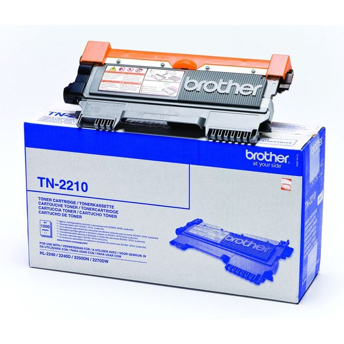 Brother TN2210 Negro Toner Original TN-2210 HL2240D HL2250DN MFC7360
