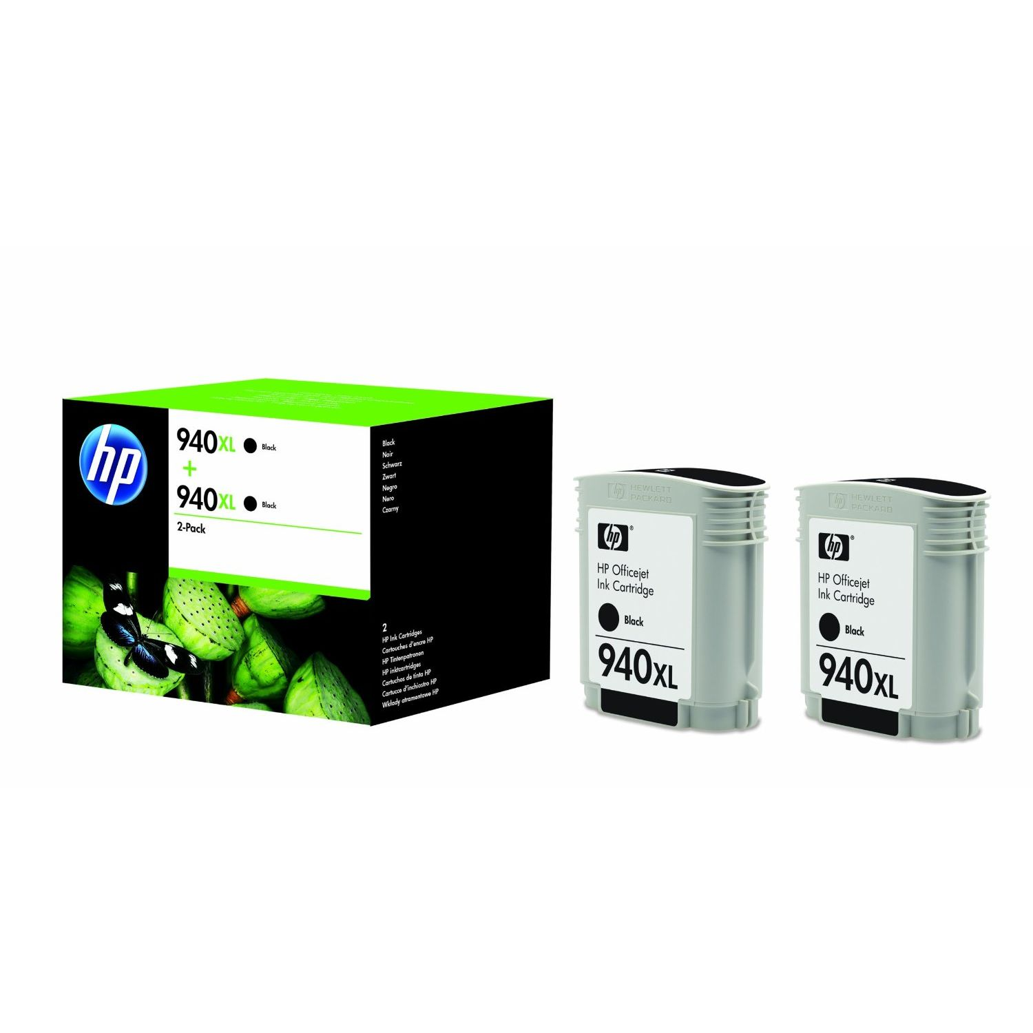 PACK 2 uds HP 940XL Negro Original D8J48AE
