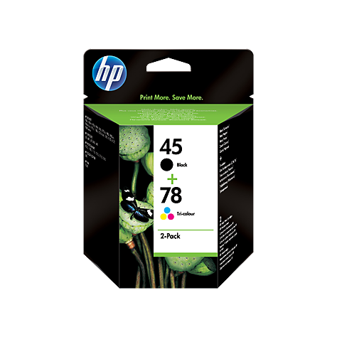 PACK HP 45 + HP 78 Original Negro + Tricolor SA308AE