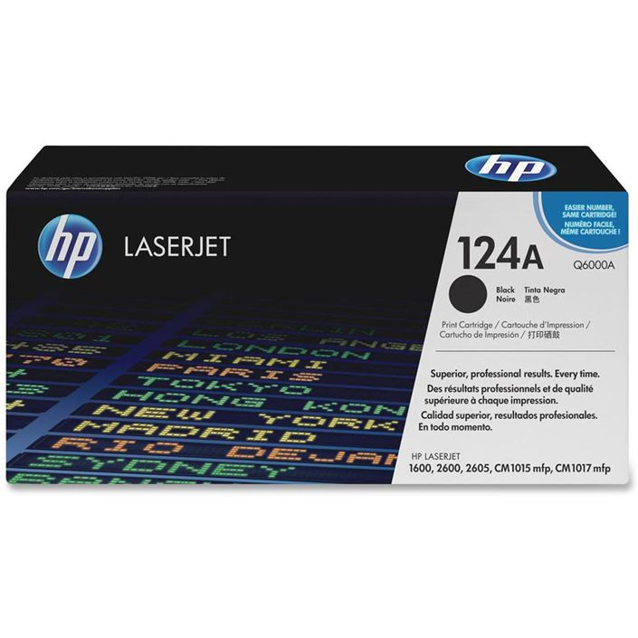 HP Color LaserJet Q6000A Original Negro Toner