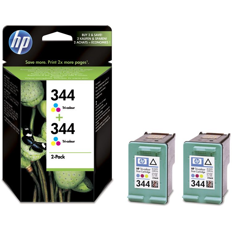 PACK 2 unidades HP 344 Original Twinpack TriColor con Vivera Inks C9505EE