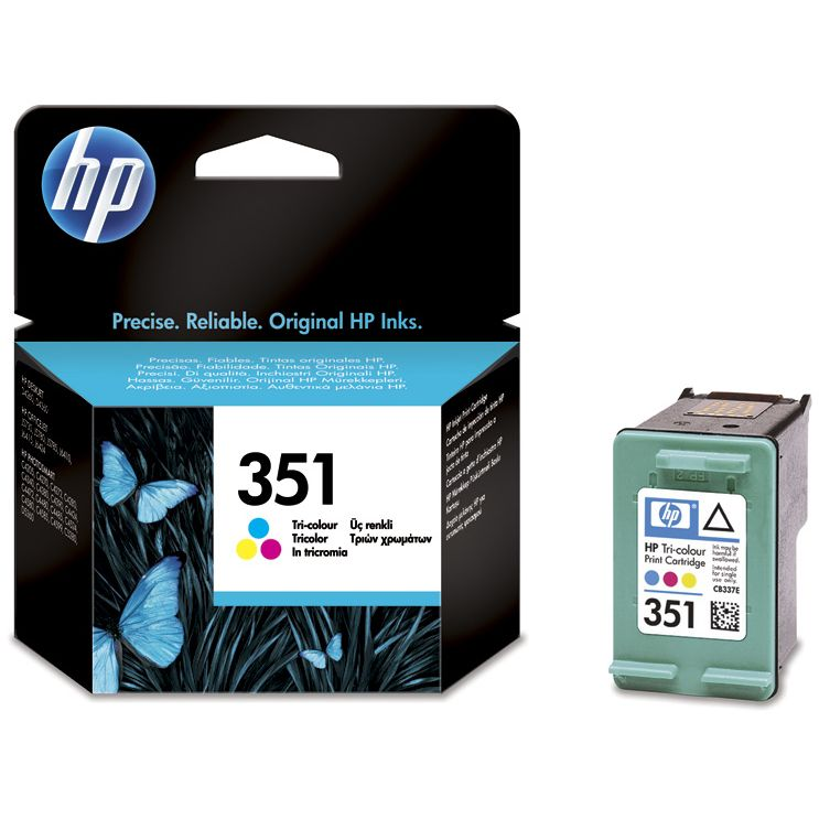 HP 351 TriColor Original CB337EE con Vivera ink
