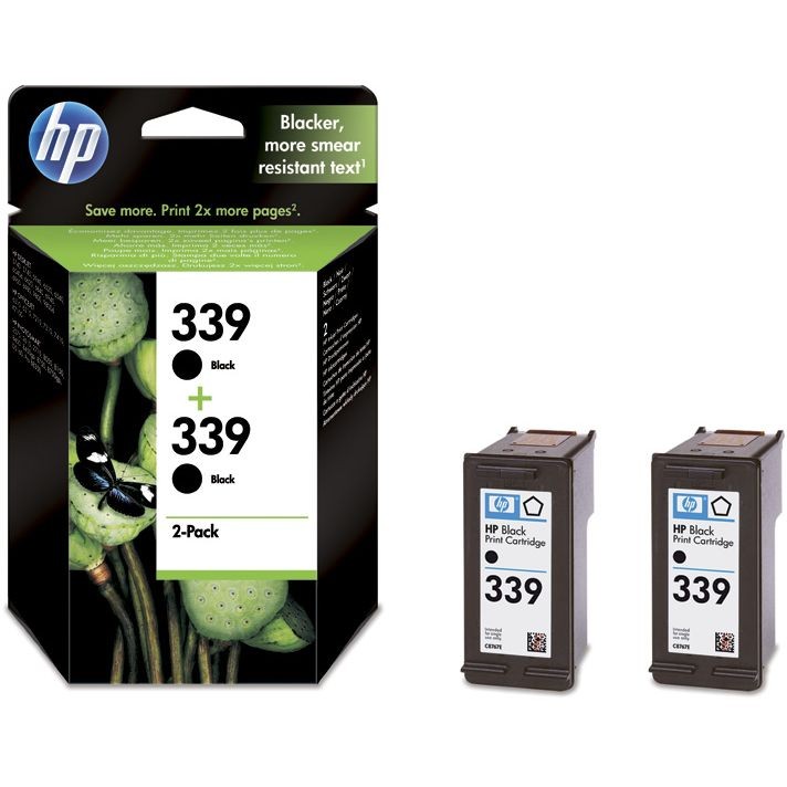 PACK 2 unidades HP 339 Original Twinpack Negro con Vivera Ink C9504EE