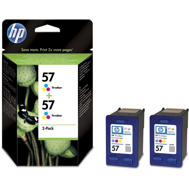 PACK 2 unidades HP 57 Original Twinpack TriColor C9503AE